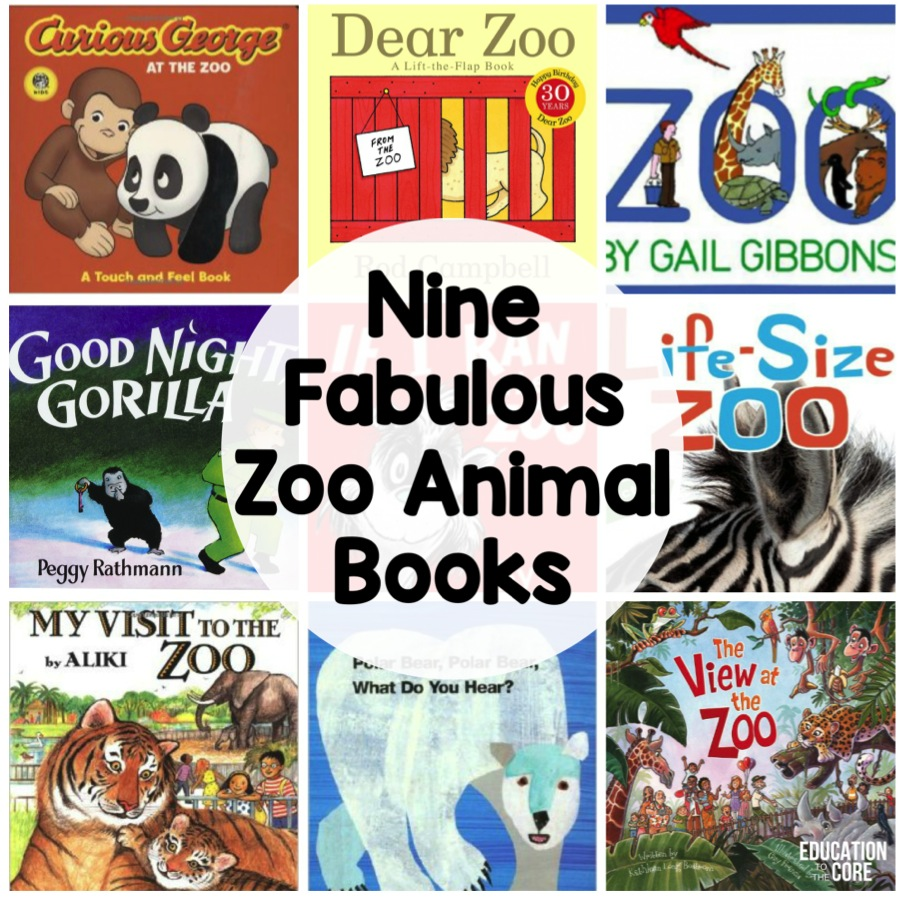 Nine Fabulous Zoo Animal Books