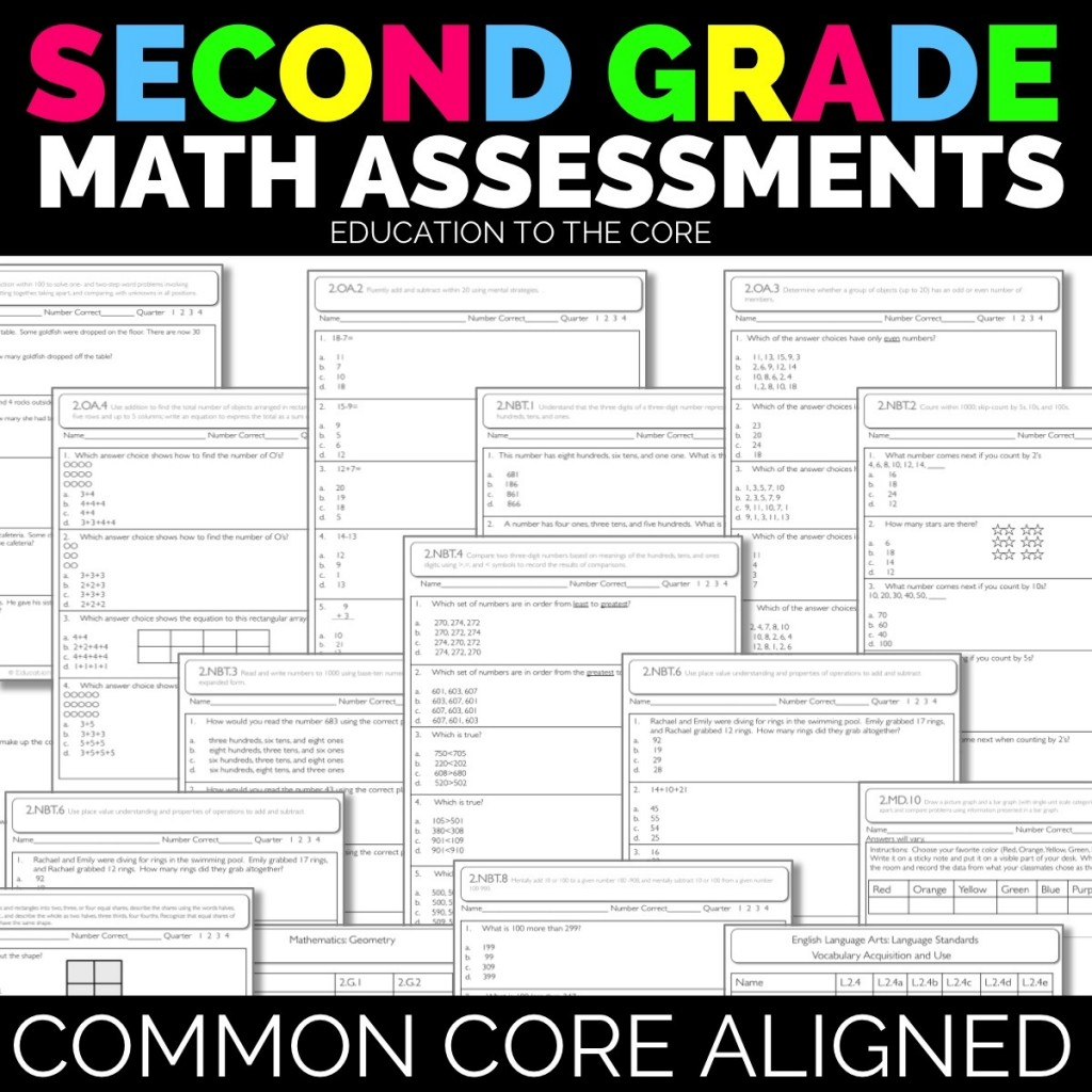 2nd Grade Math and Language Assessments