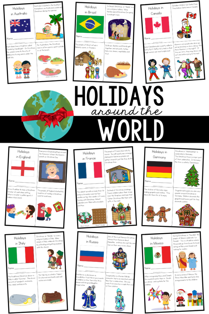 Holidays Christmas Around The World Unit And Mini Books
