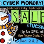 TpT Cyber Monday Sale! 28% off all TpT products