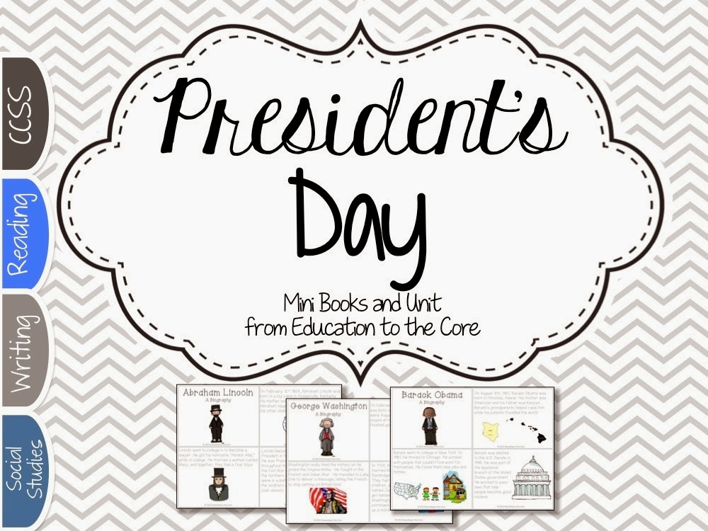 President's Day Activities and Close Read