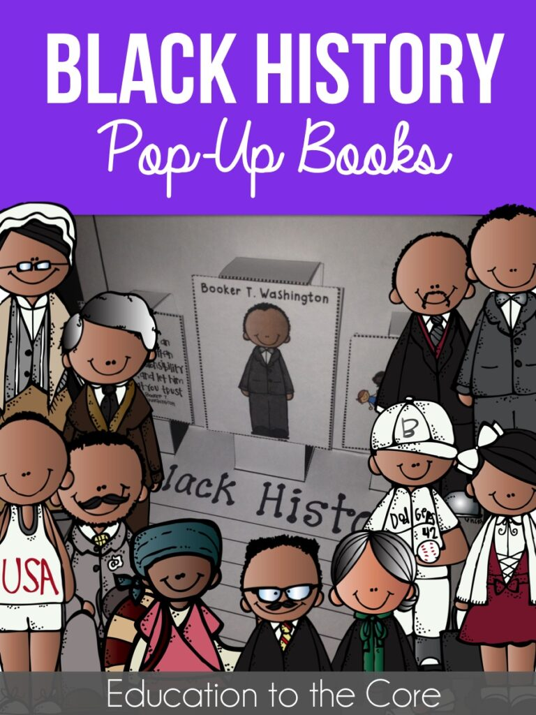 Black History Pop-Up Books and FREEBIE!