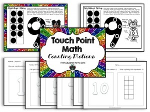 Touch Points Motions for Number Sense