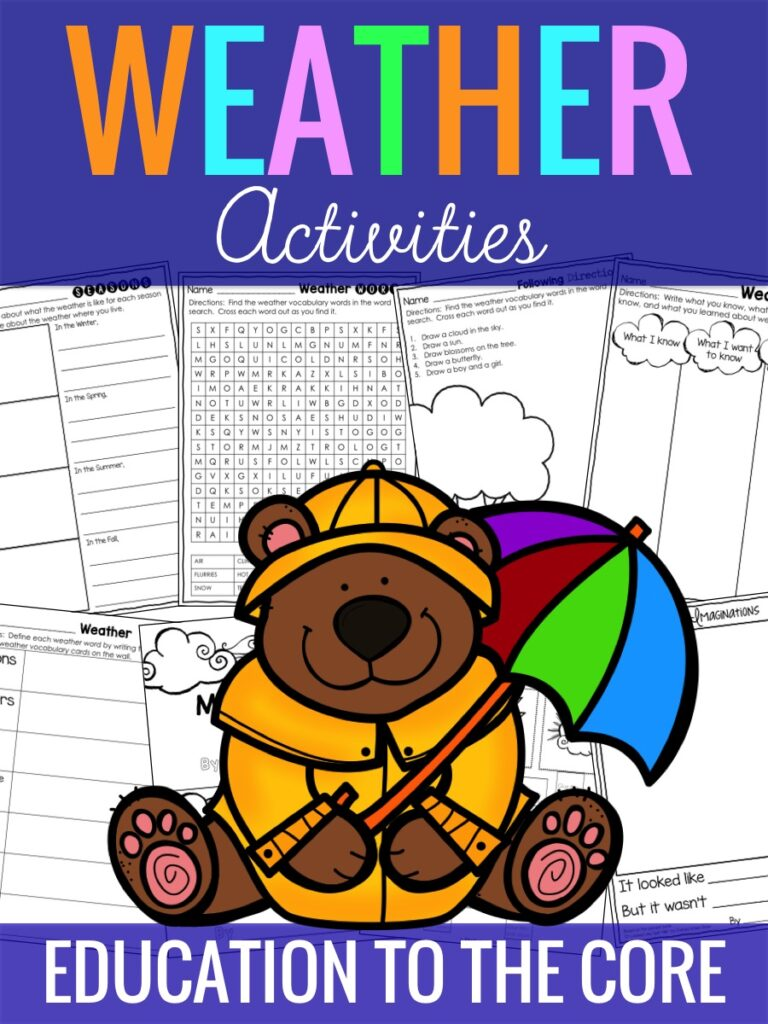 Weather Activities and FREEBIE!