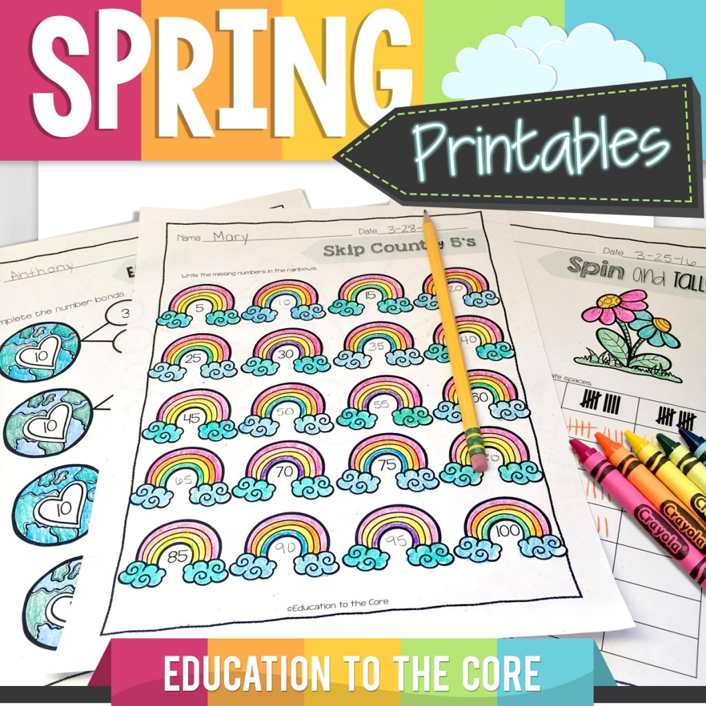 Spring Interactive Printables from Education to the Core