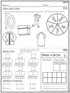 Worksheets Daily Morning Work 1st Grade morning work bundle for first grade education to the core if you would like try out a two week preview of my can get it free in store