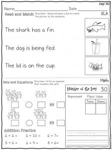 Worksheets Daily Morning Work 1st Grade morning work bundle for first grade education to the core work