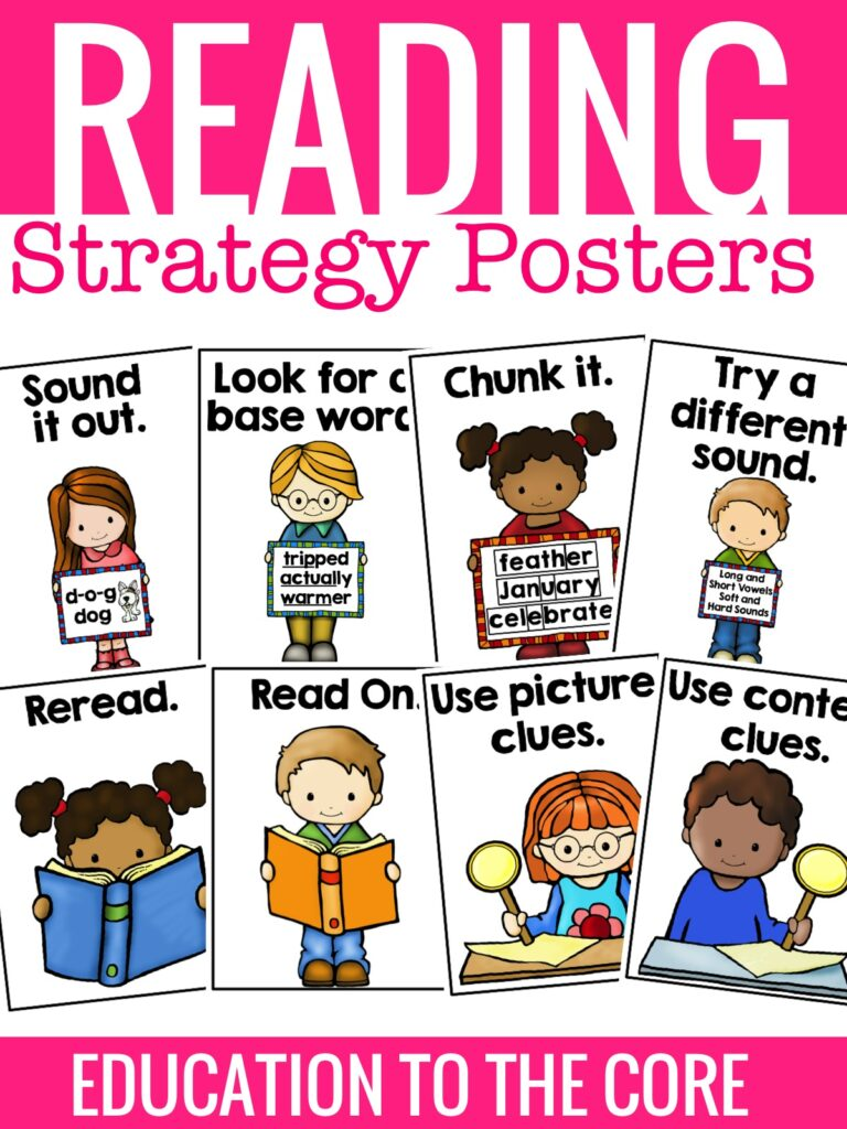 Reading Strategy Posters and FREEBIE