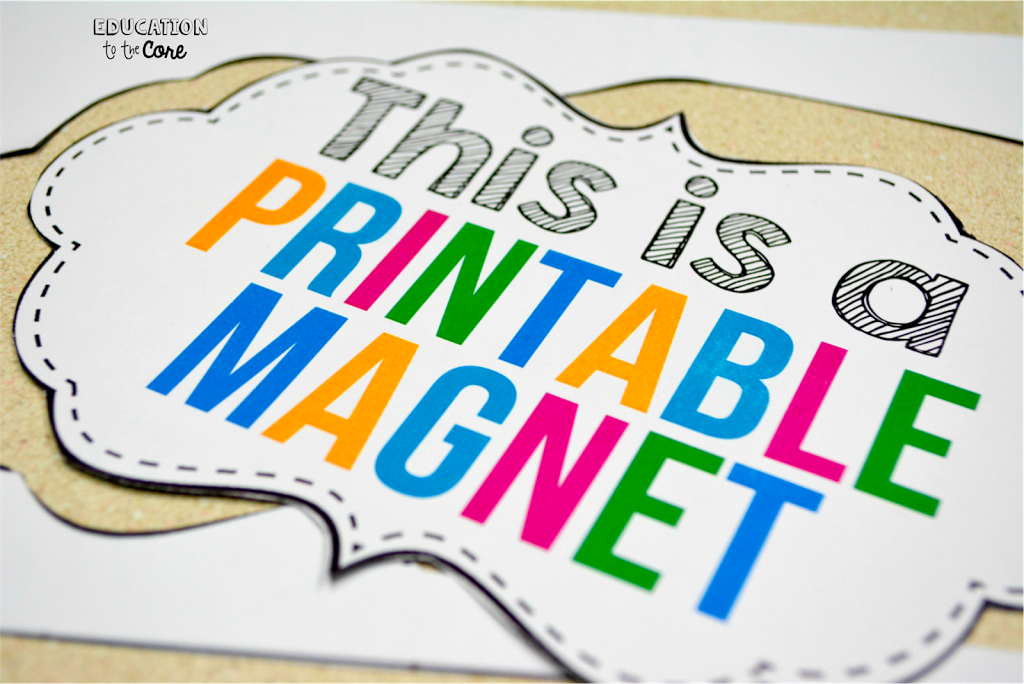 graphic regarding Printable Magnetic Paper identify Applying Printable Magnetic Paper Inside Your Clroom