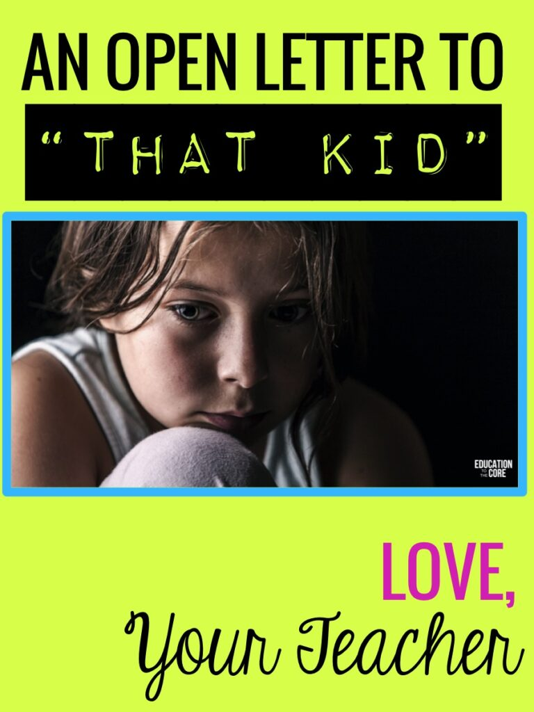 "An Open Letter to ""That Kid"""