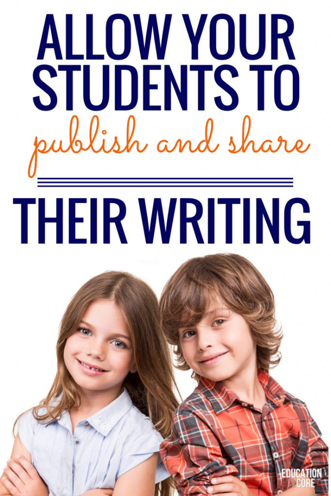 Allow Your Student to Publish and Share Their Writing
