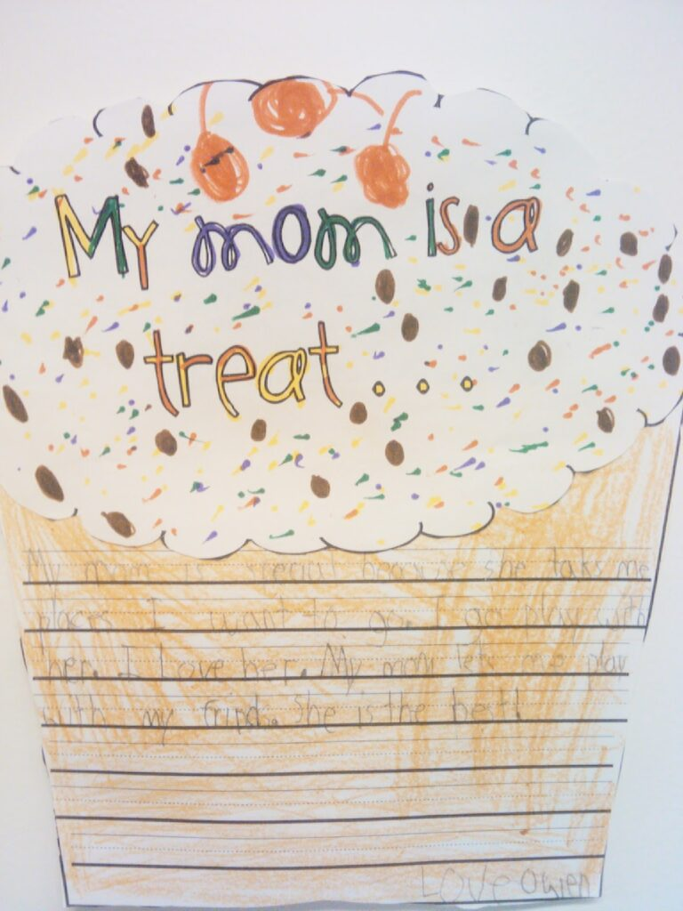 Mother's Day Cupcake Writing Craftivity from Tales from Outside the Classroom