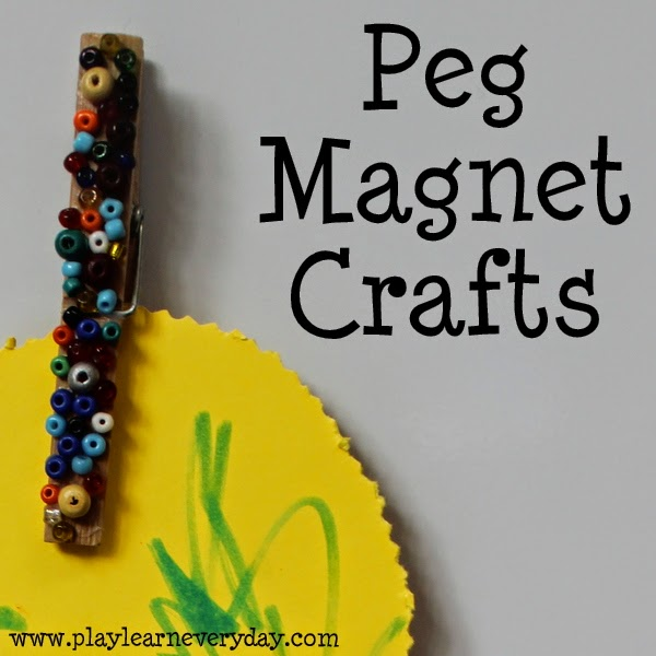 Peg Magnets from Play Learn Everyday