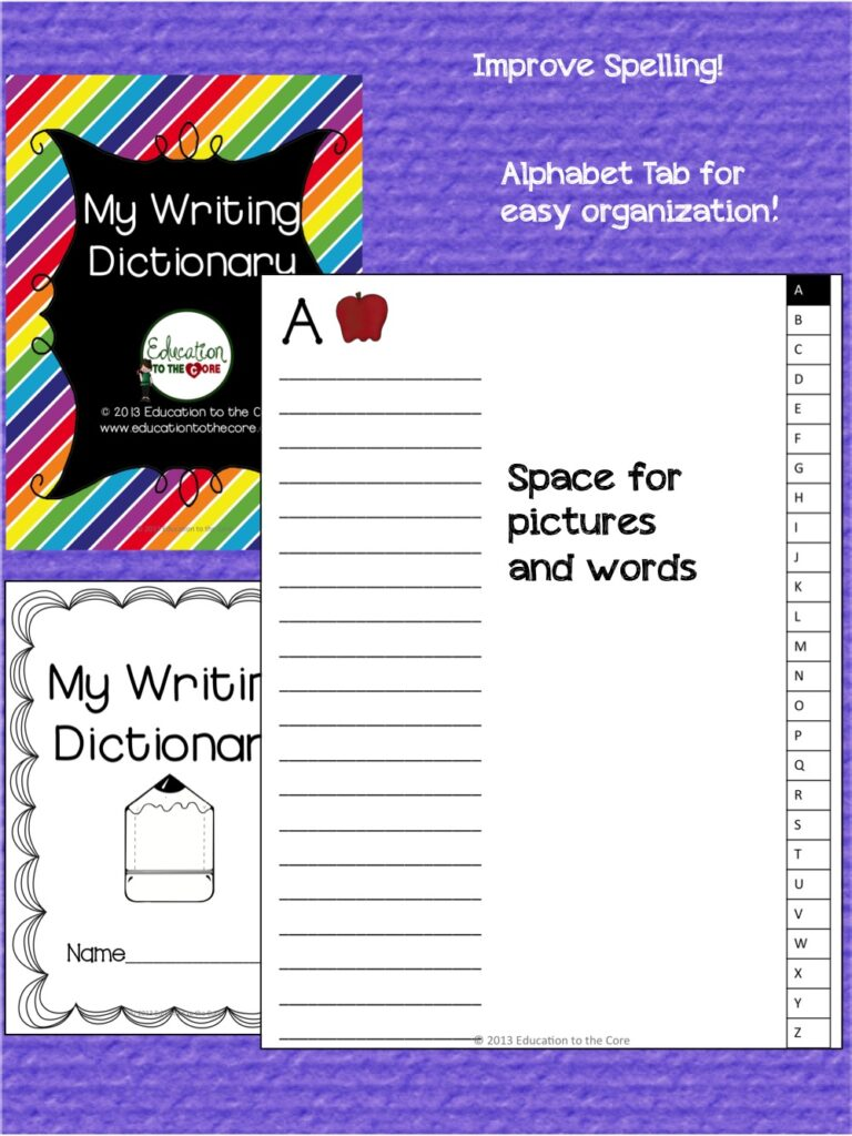 https://www.teacherspayteachers.com/Product/Dictionary-452691