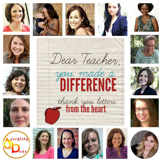 Dear Teacher, You Made a Difference in my Life.