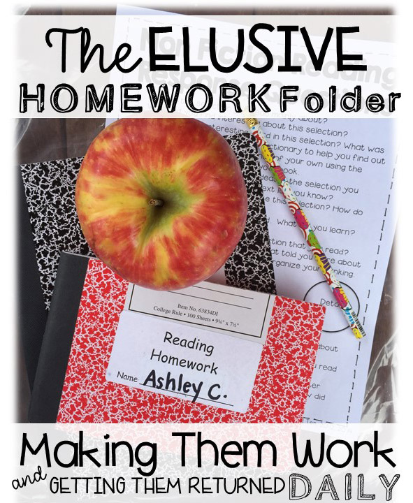 The Elusive Homework Folder: Making them work and getting them returned daily.