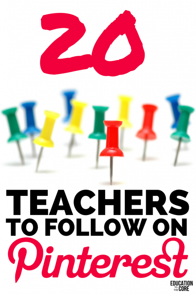 20 Teachers to Follow on Pinterest
