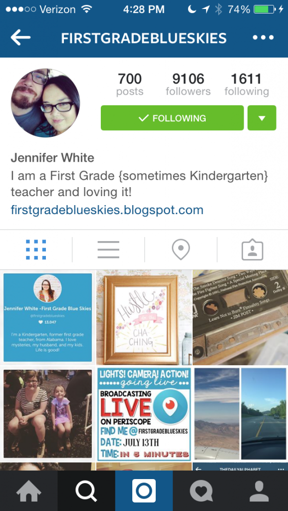 Jennifer from First Grade Blue Skies