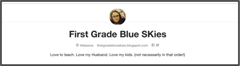 Jennifer from First Grade Blue Skies