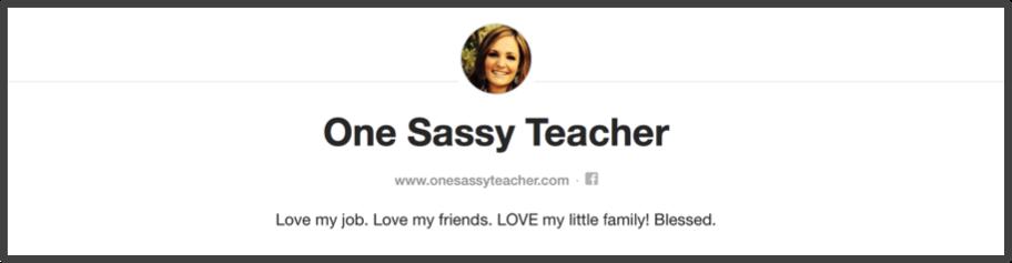 Karri from One Sassy Teacher