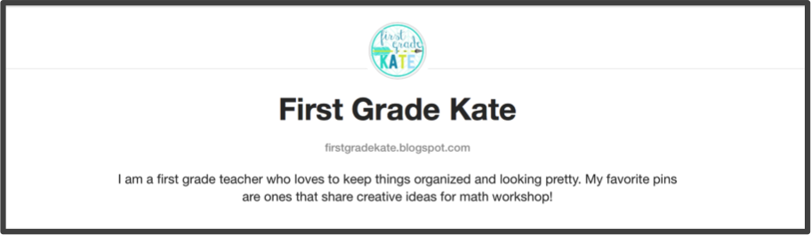Kate from First Grade Kate