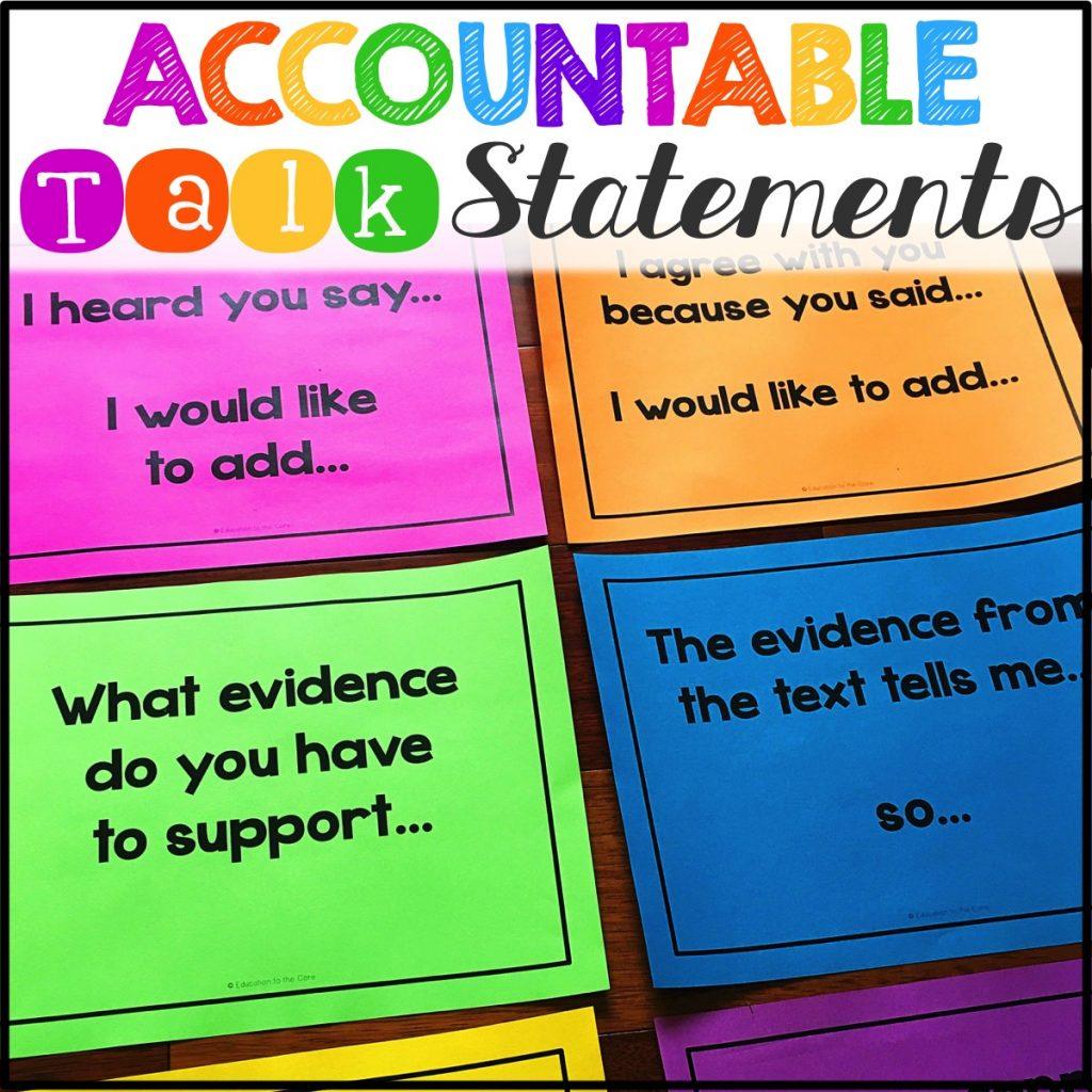 Accountable Talk Statements