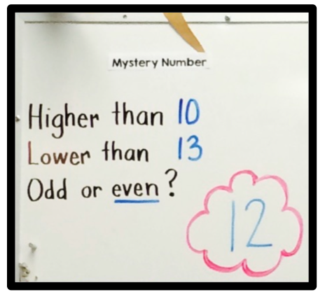 Mystery Number for Math Boards