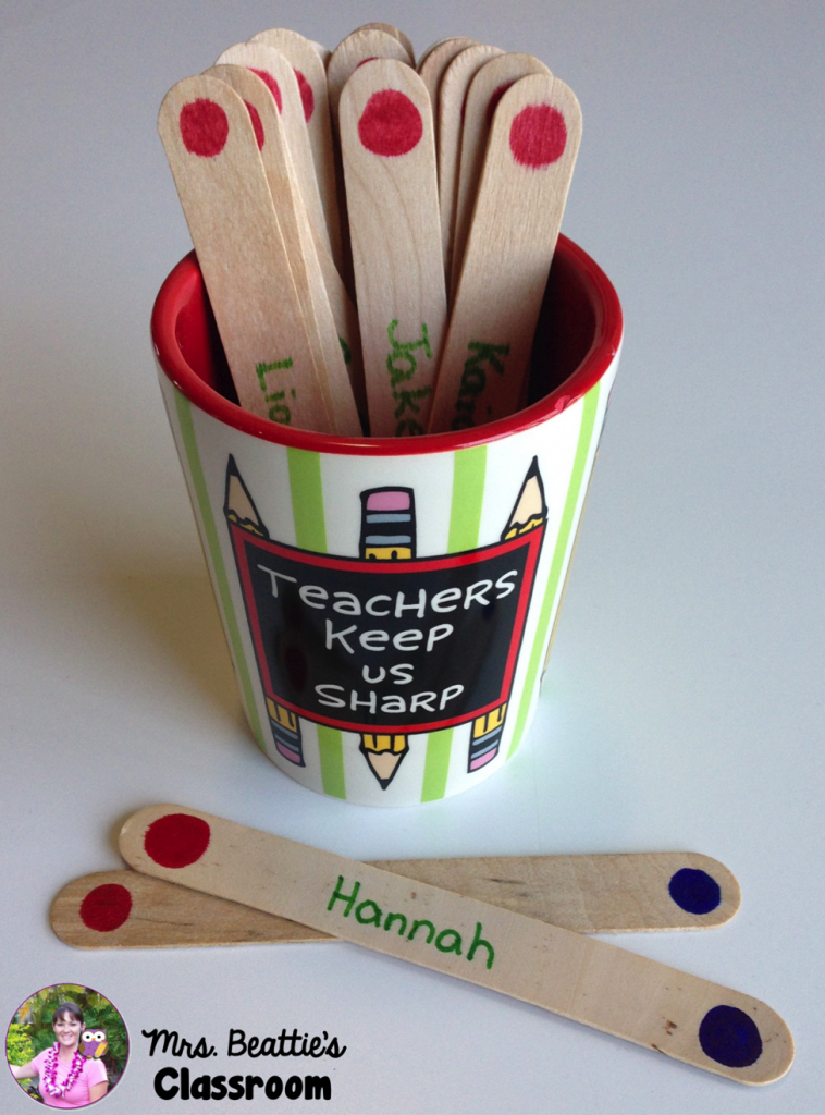 Ditch the hands and use sticks for reaching disengaged students.
