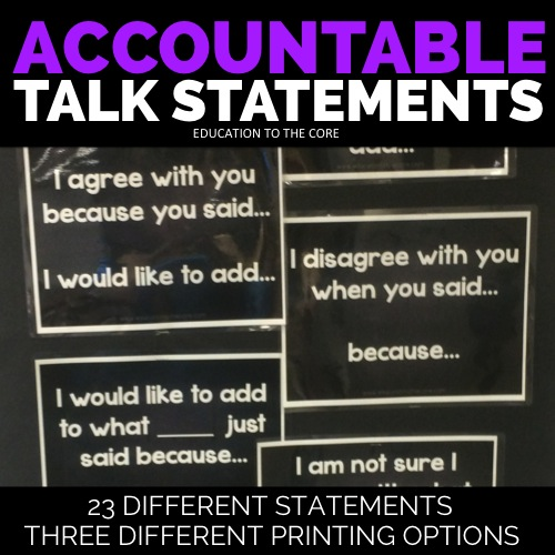 Accountable Talk Statements