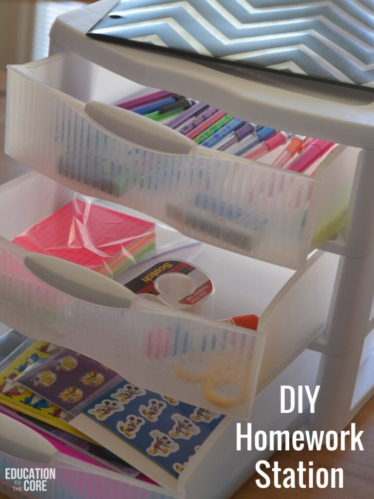 Create a DIY (Do It Yourself) Homework Station