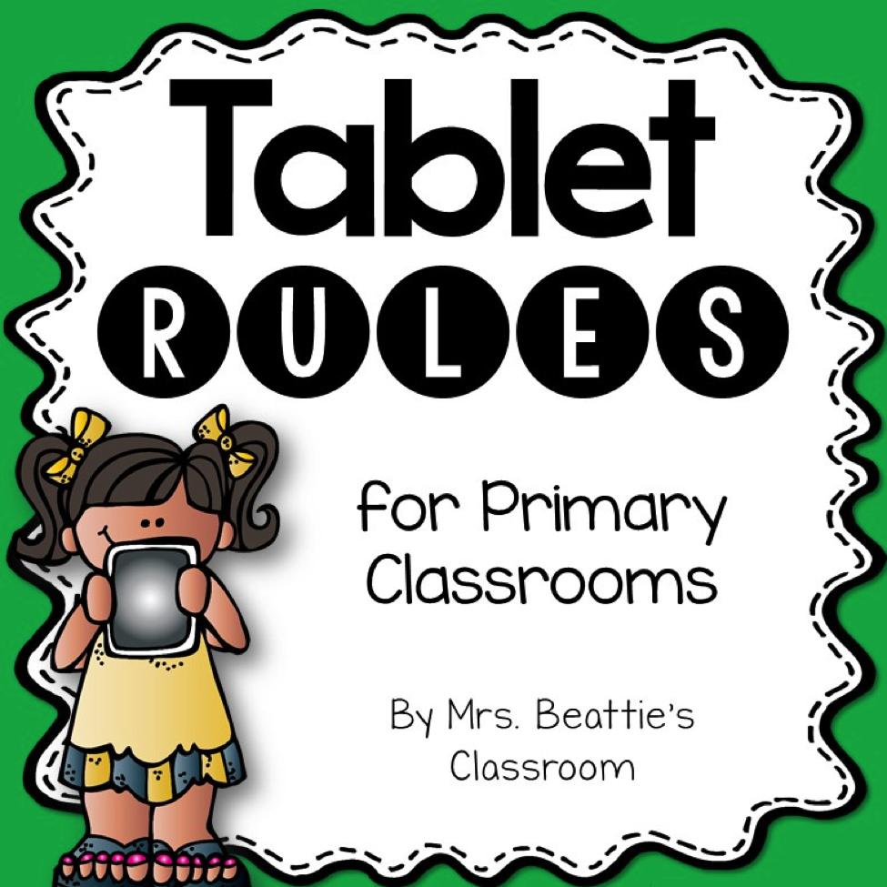 Tablet Rules Freebie from Mrs. Beattie's Classroom