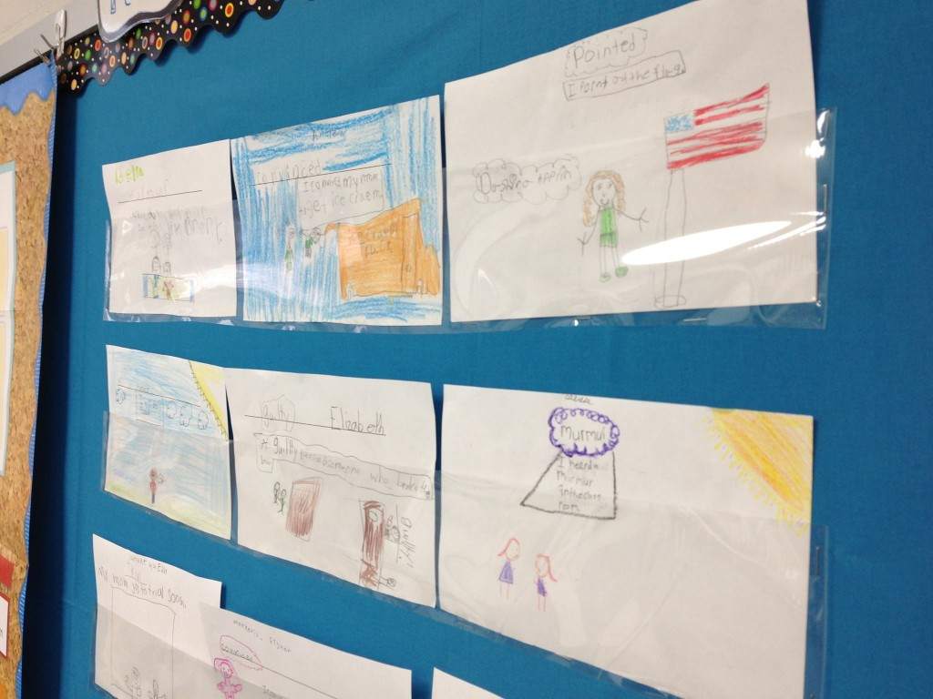 Easy Way to Display Student Writing Using Laminating Film by Beth F.