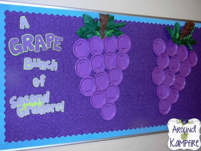 a grape bunch of second graders from linda kamp from around the kampfire bulletin board ideas