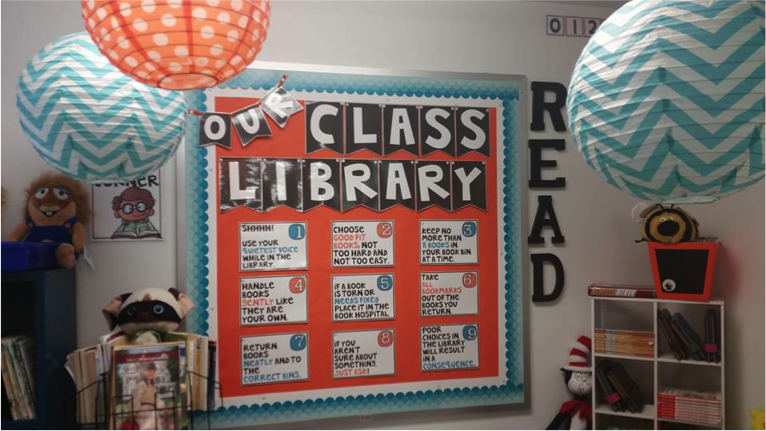Our Class Library by Tami from Blessed in First