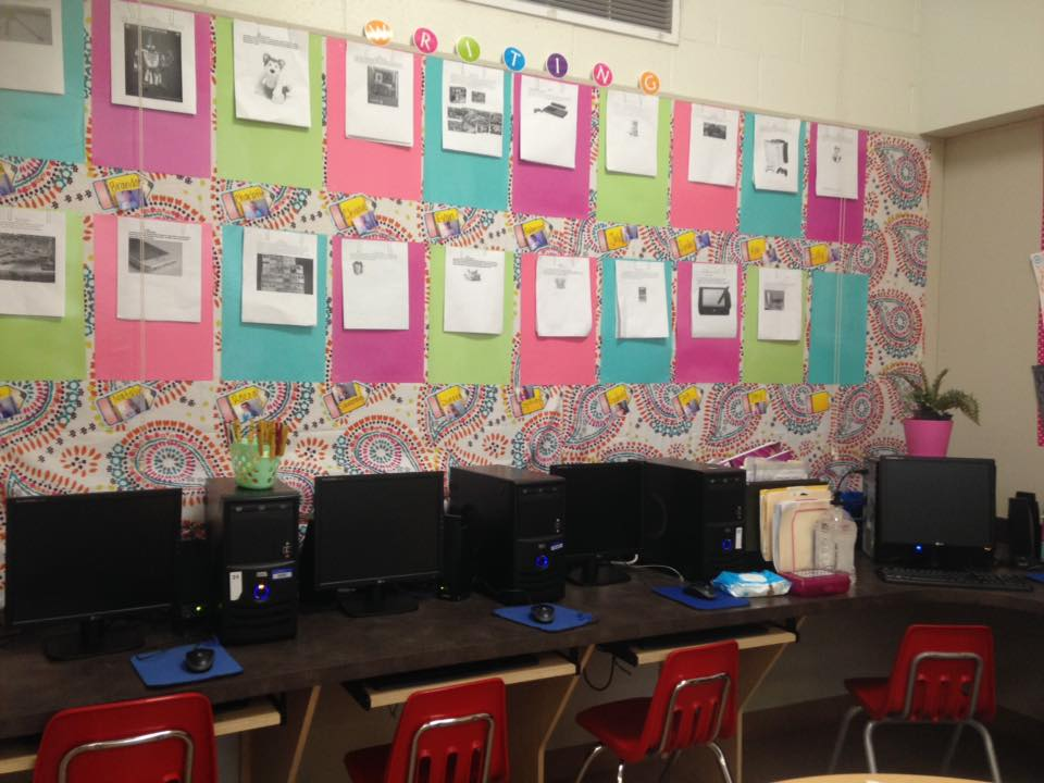 Colorful Writing Bulletin Board from Kristen from Easy Teaching Tools