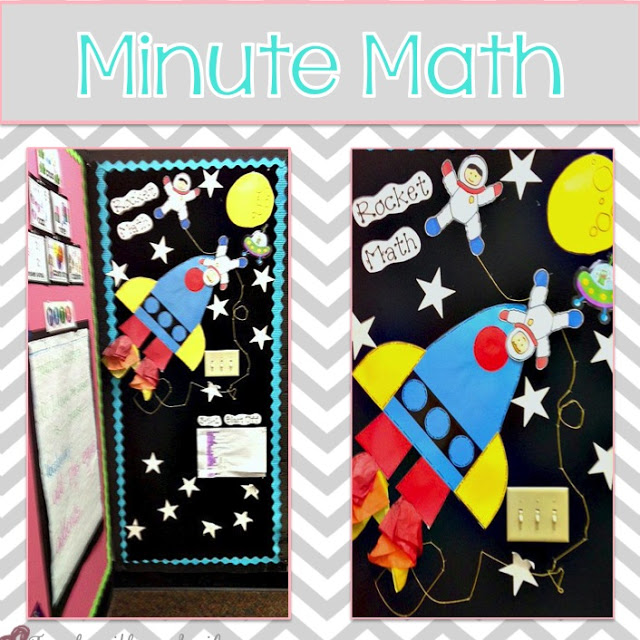 Rocket Math Bulletin Board from Victoria from Teach with a Smile