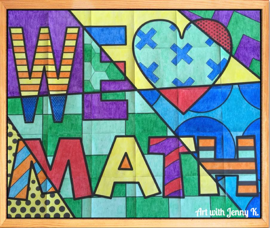 We Love Math Bulletin Board by Art with Jenny K.