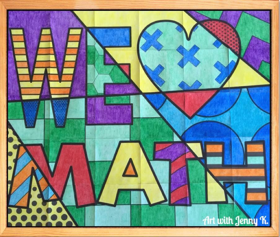 We Love Math Bulletin Board by Art with Jenny K.