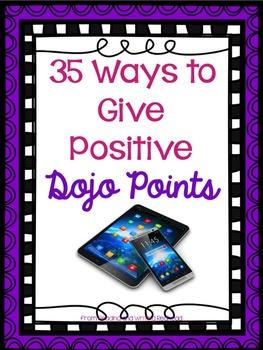 35 Ways to Give Positive Dojo Points