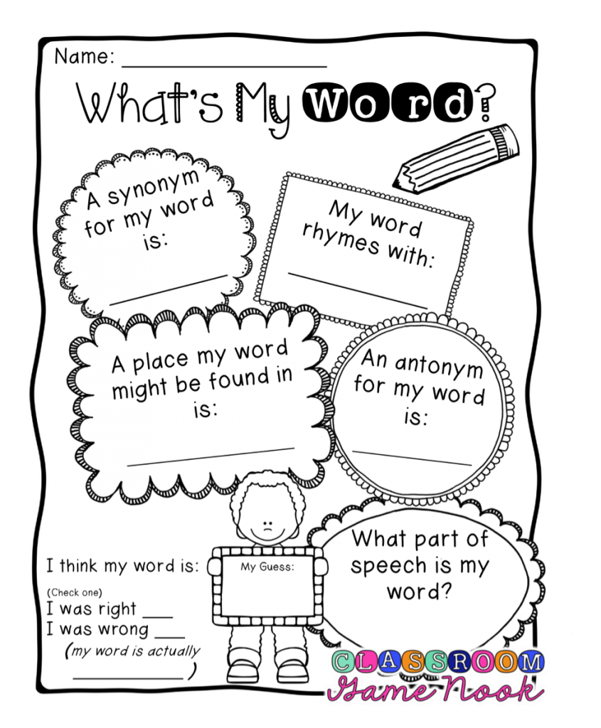 All Worksheets synonyms worksheets for kids : 4 Games to Help Kids Think Critically about Vocabulary