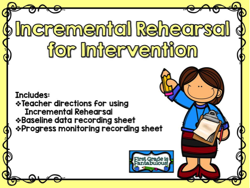 Incremental Rehearsal Freebie