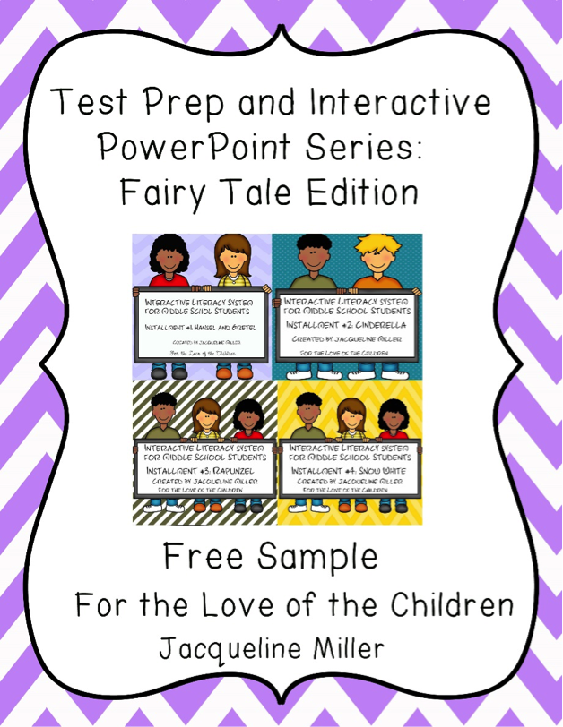 Test Prep and Interactive Powerpoint Series: Fairytale Edition