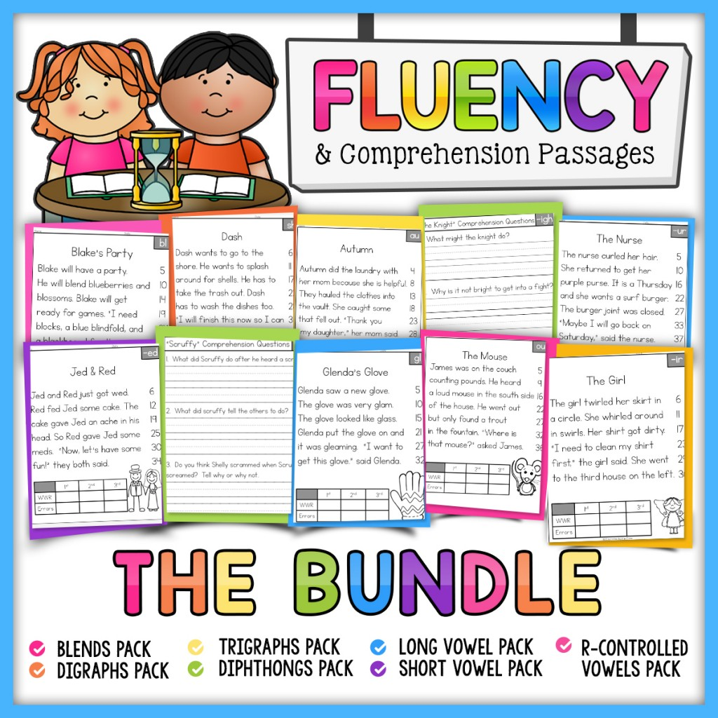 Fluency and Comprehension Passages Bundle