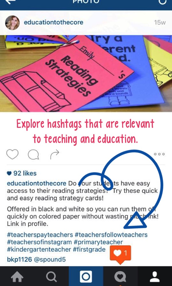 Explore hashtags that are relevant to teaching and education.