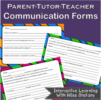 Parent-Tutor Communication Forms