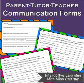 Parent-Tutor Communication Forms