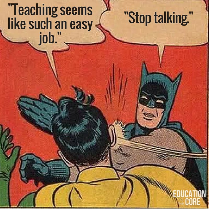 When People Say Teaching is an Easy Job