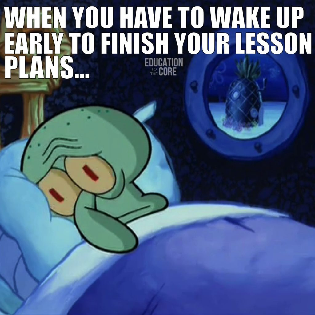 When you spend all day procrastinating to do your lesson plans, sleep doesn't come easy.