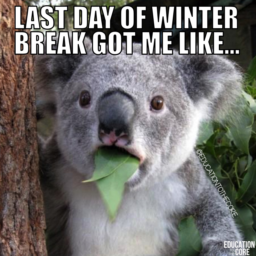 Any last day of break can put any of us in a state of shock.