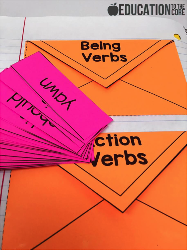Verbs Interactive Notebook Activities
